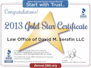 Gold star Certificate 2013