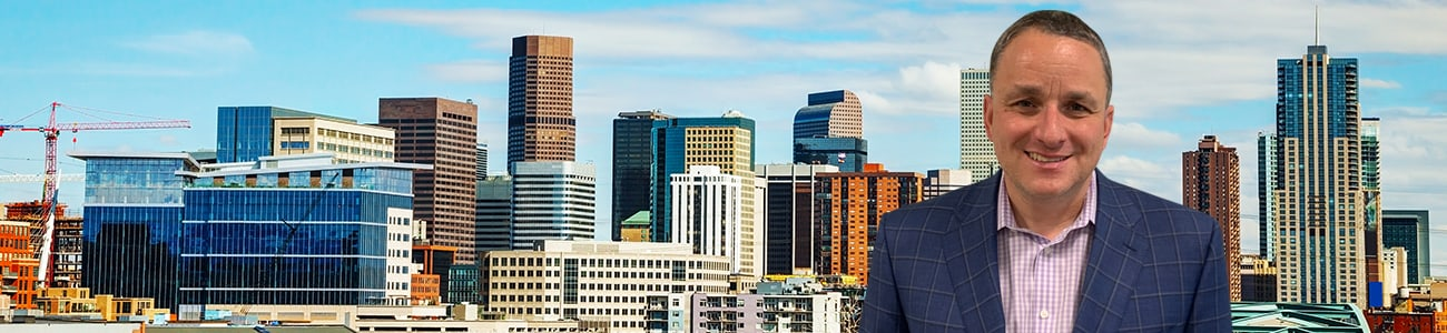 Downtown Denver cityscape on a sunny day