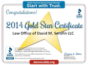 Gold star Certificate 2014